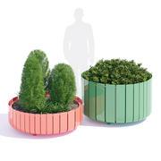 Stripes planter two 3d model
