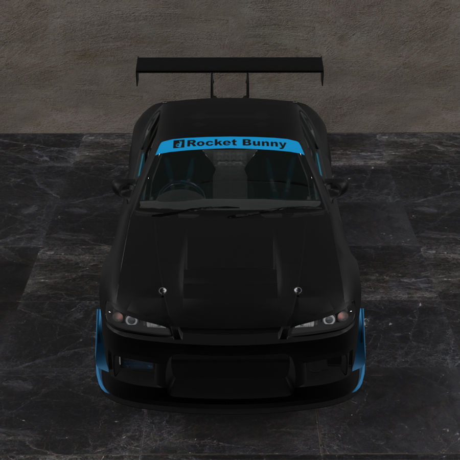 Nissan Silvia S15 c / Kit Foguete Coelho royalty-free 3d model - Preview no. 2