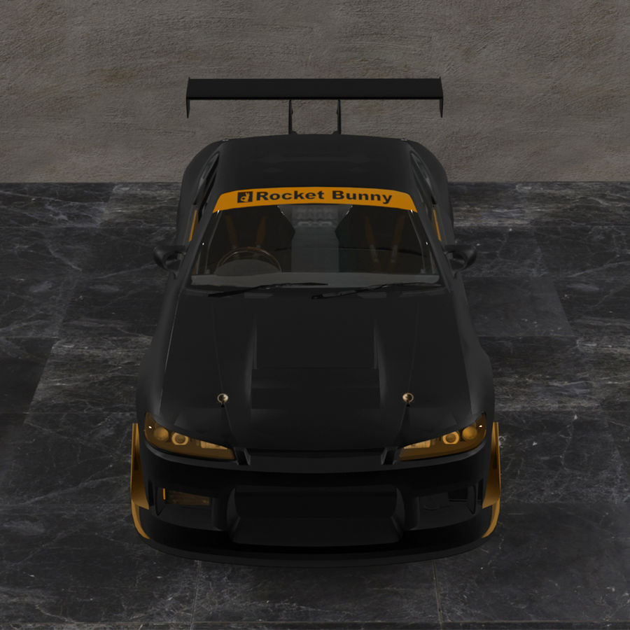 Nissan Silvia S15 c / Kit Foguete Coelho royalty-free 3d model - Preview no. 5