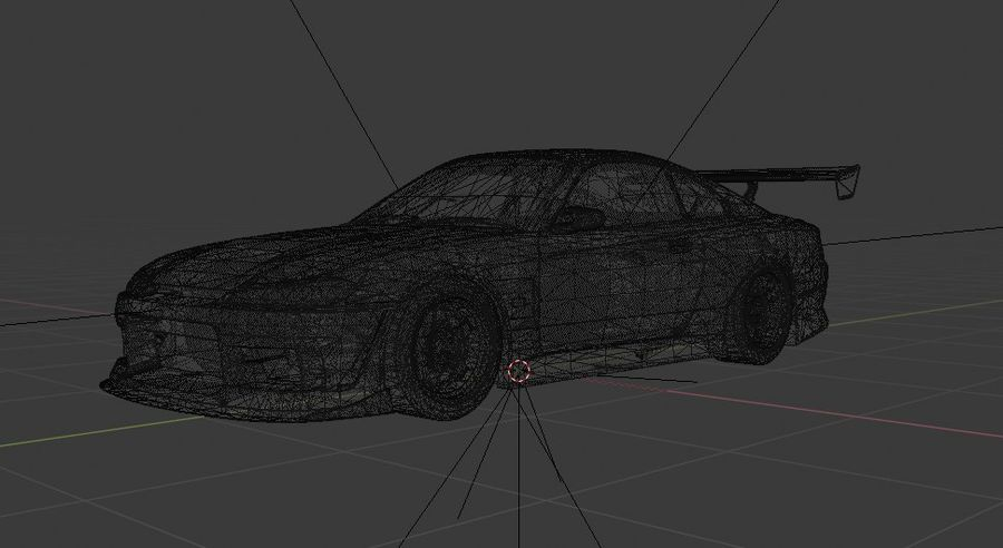 Nissan Silvia S15 c / Kit Foguete Coelho royalty-free 3d model - Preview no. 6