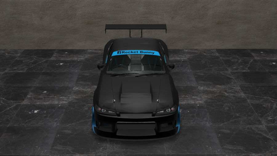 Nissan Silvia S15 c / Kit Foguete Coelho royalty-free 3d model - Preview no. 1