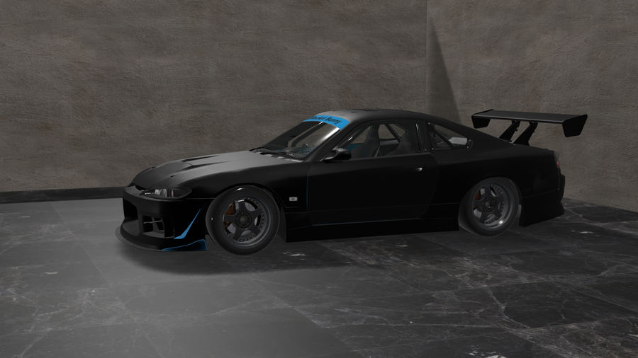 Nissan Silvia S15 c / Kit Foguete Coelho royalty-free 3d model - Preview no. 3
