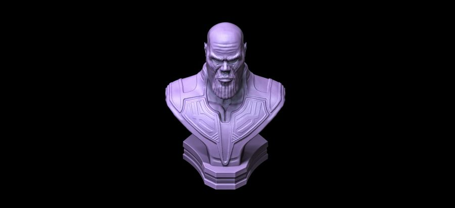 Thanos Büste 3d Druck royalty-free 3d model - Preview no. 3