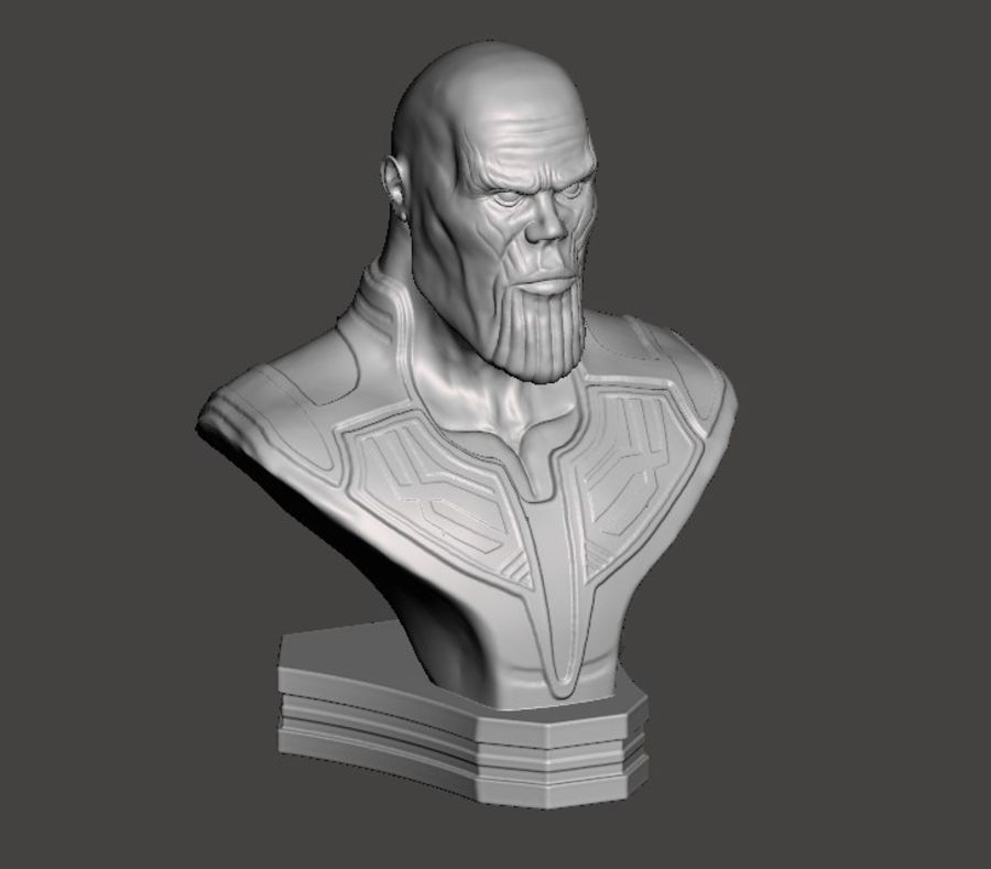 Thanos Büste 3d Druck royalty-free 3d model - Preview no. 5
