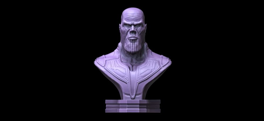 Thanos Büste 3d Druck royalty-free 3d model - Preview no. 1