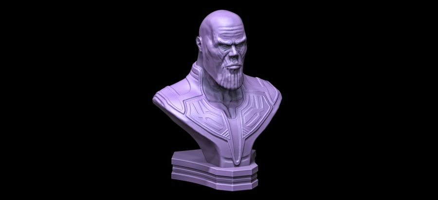Thanos Büste 3d Druck royalty-free 3d model - Preview no. 2