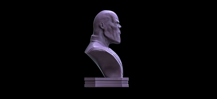 Thanos Büste 3d Druck royalty-free 3d model - Preview no. 4