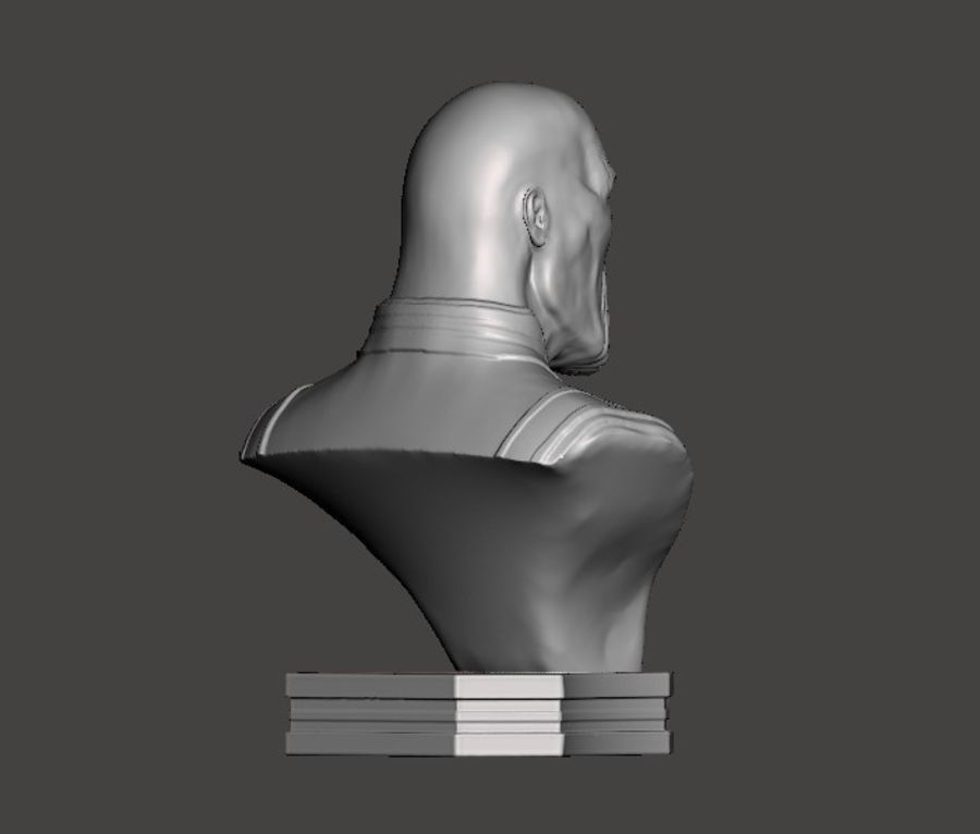Thanos Büste 3d Druck royalty-free 3d model - Preview no. 6