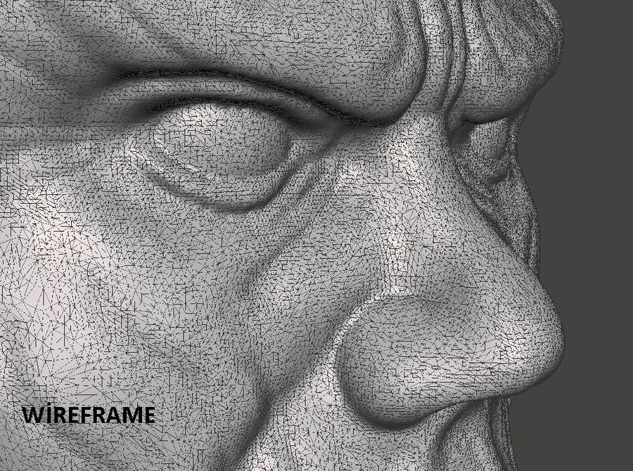 Thanos Büste 3d Druck royalty-free 3d model - Preview no. 7