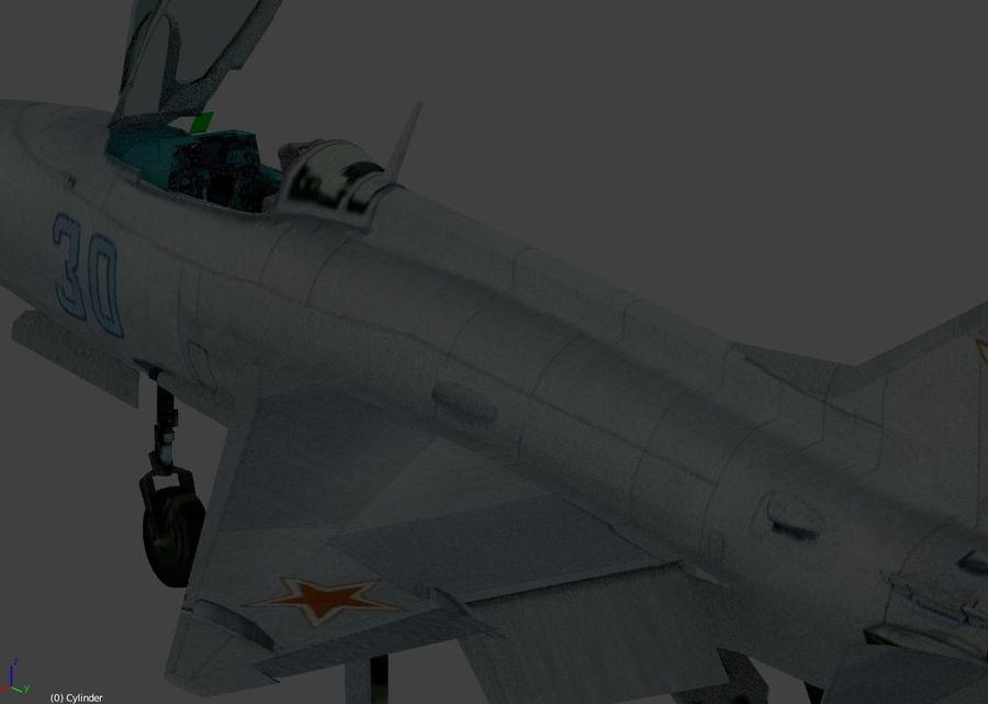 mig 21 F13 royalty-free 3d model - Preview no. 3