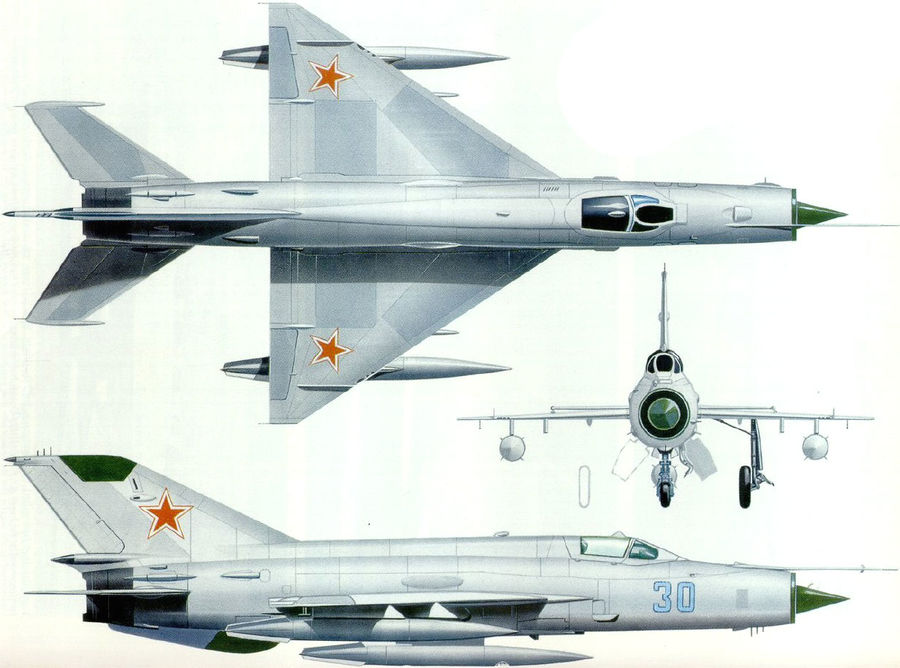 mig 21 F13 royalty-free 3d model - Preview no. 5