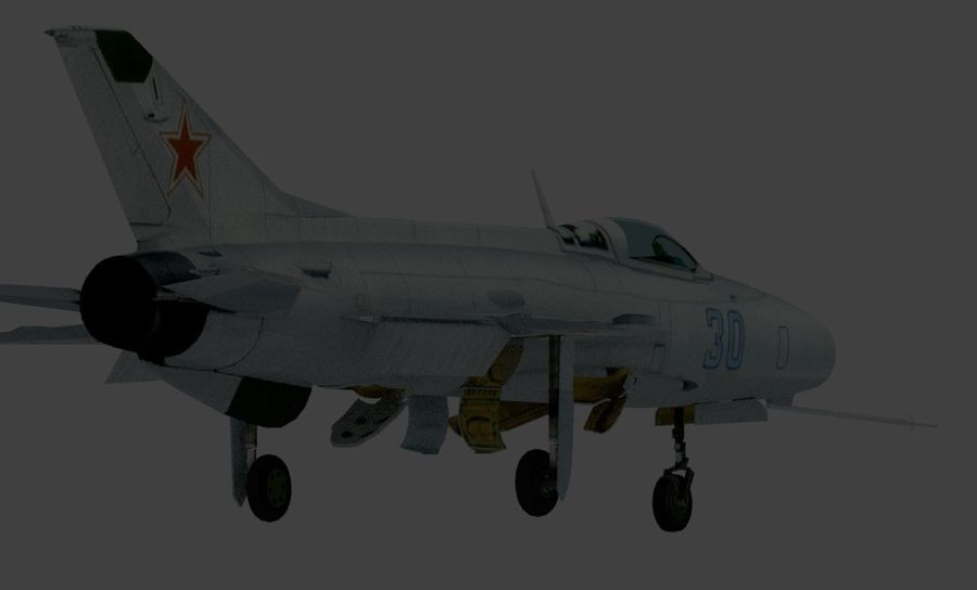 mig 21 F13 royalty-free 3d model - Preview no. 2