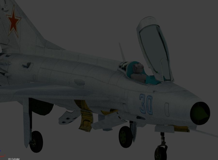 mig 21 F13 royalty-free 3d model - Preview no. 4