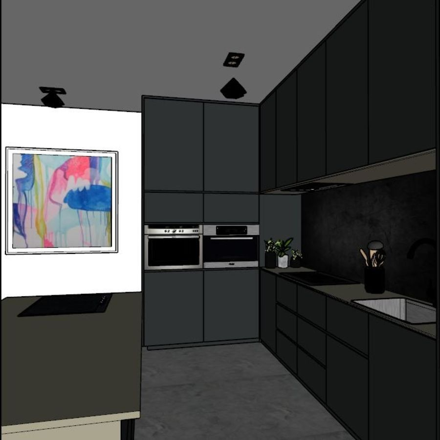 Kitchen Design royalty-free 3d model - Preview no. 4