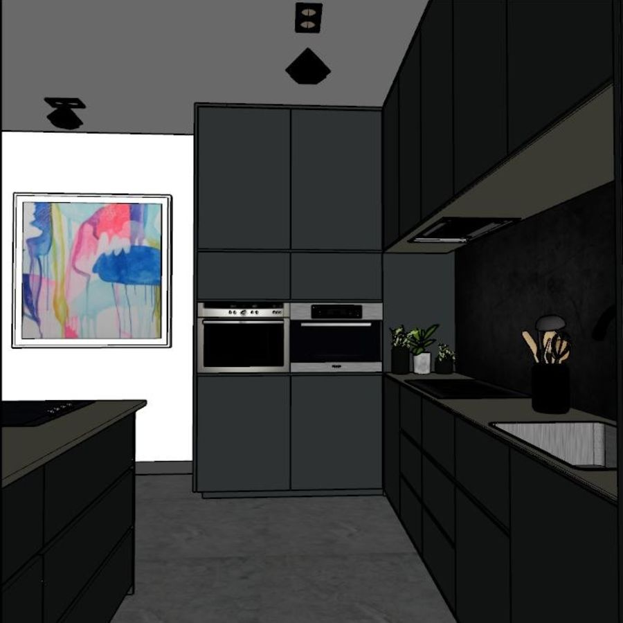 Kitchen Design royalty-free 3d model - Preview no. 3