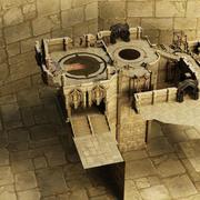 Dentro del castillo modelo 3d