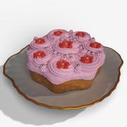 Ciasto z kremem 3d model