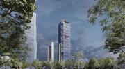 Torre BBVA Bancomer 3d model