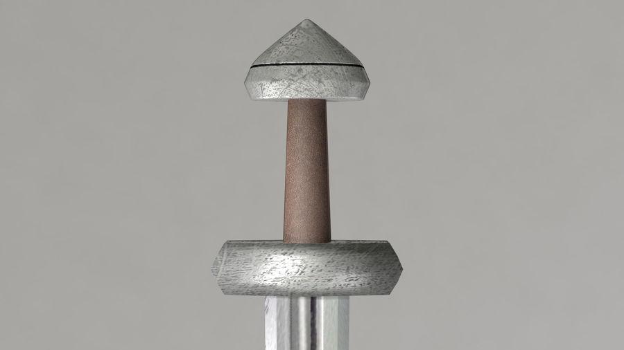 Меч викингов royalty-free 3d model - Preview no. 3