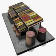 お茶と雑貨のスタンド市場 3d model