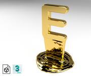 Letter E 3d model