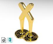 Letter x 3d model