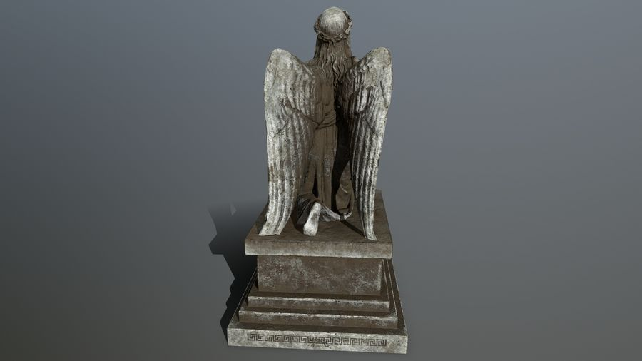 Statua anioła royalty-free 3d model - Preview no. 8