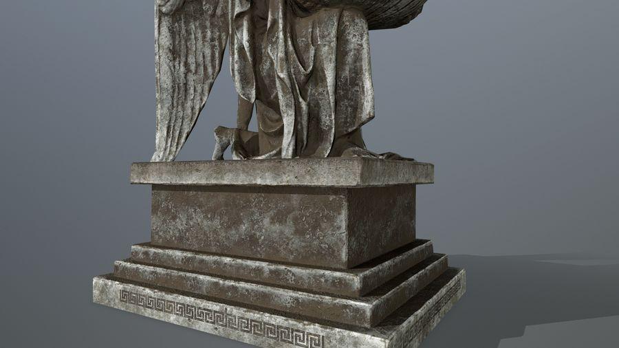 Statua anioła royalty-free 3d model - Preview no. 13
