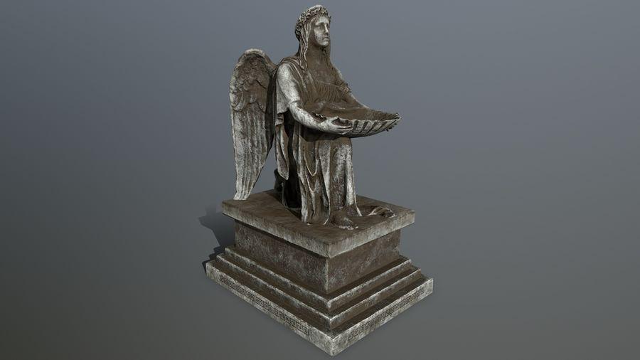 Statua anioła royalty-free 3d model - Preview no. 11