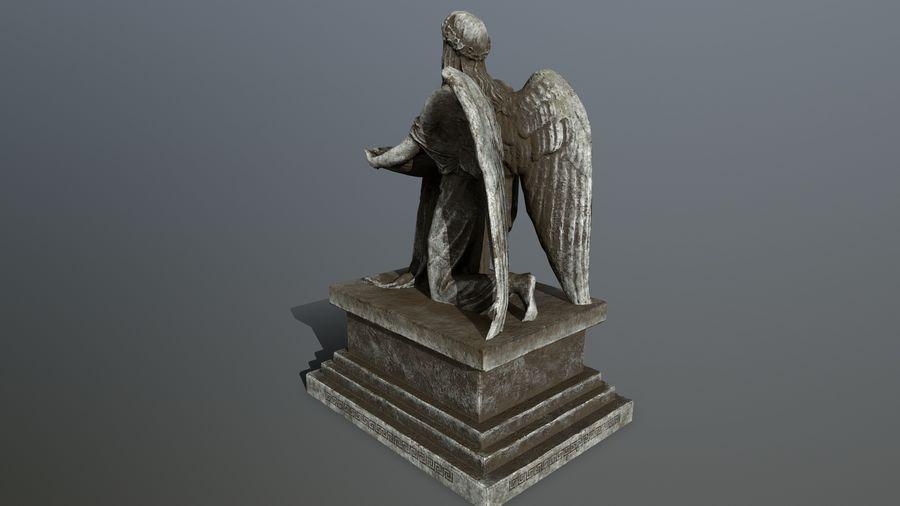 Statua anioła royalty-free 3d model - Preview no. 7