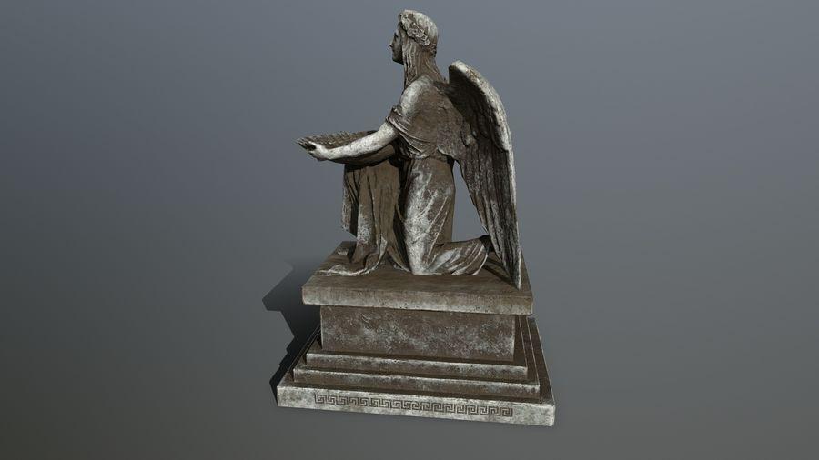 Statua anioła royalty-free 3d model - Preview no. 6