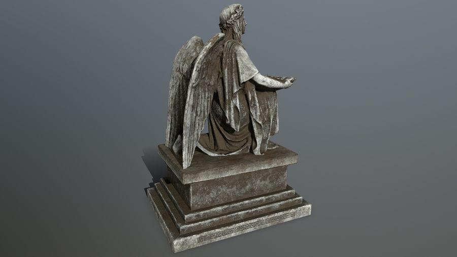 Statua anioła royalty-free 3d model - Preview no. 9