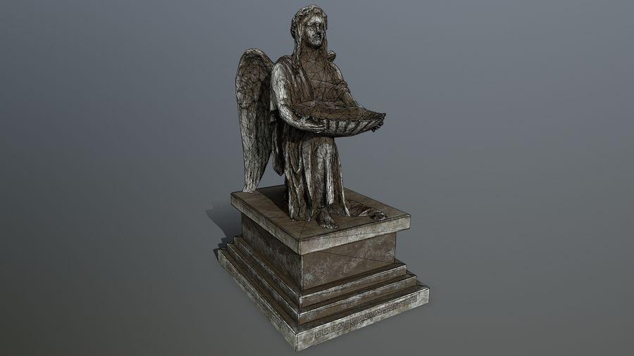 Statua anioła royalty-free 3d model - Preview no. 14