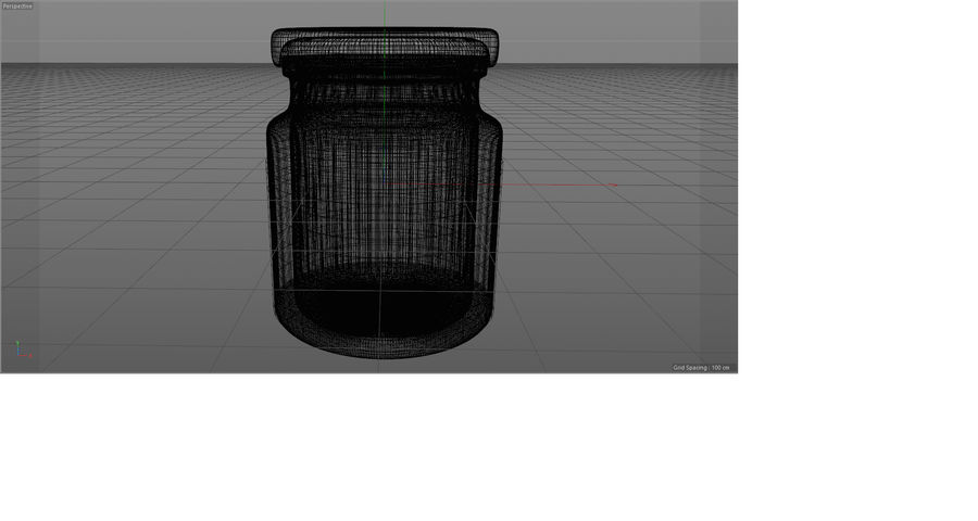 Glass jar with metal lid - mini 3D model royalty-free 3d model - Preview no. 4