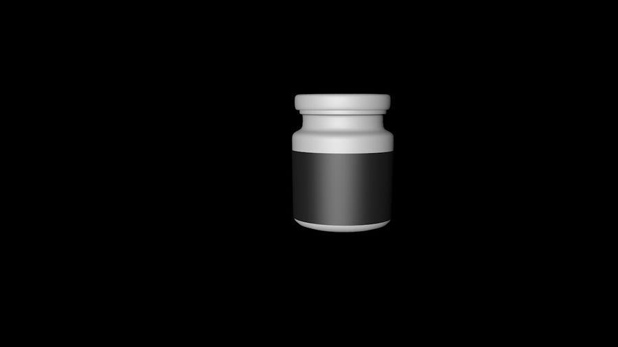 Glass jar with metal lid - mini 3D model royalty-free 3d model - Preview no. 1