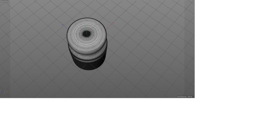 Glass jar with metal lid - mini 3D model royalty-free 3d model - Preview no. 5