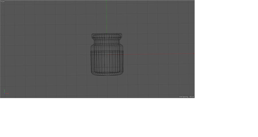 Glass jar with metal lid - mini 3D model royalty-free 3d model - Preview no. 3