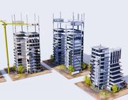 Construcción de edificios modelo 3d