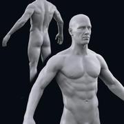 Realistyczne męskie ciało (wysoki poli) 3d model