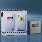 Caja electrica modelo 3d