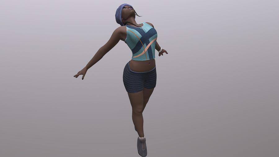 黑人妇女 royalty-free 3d model - Preview no. 6