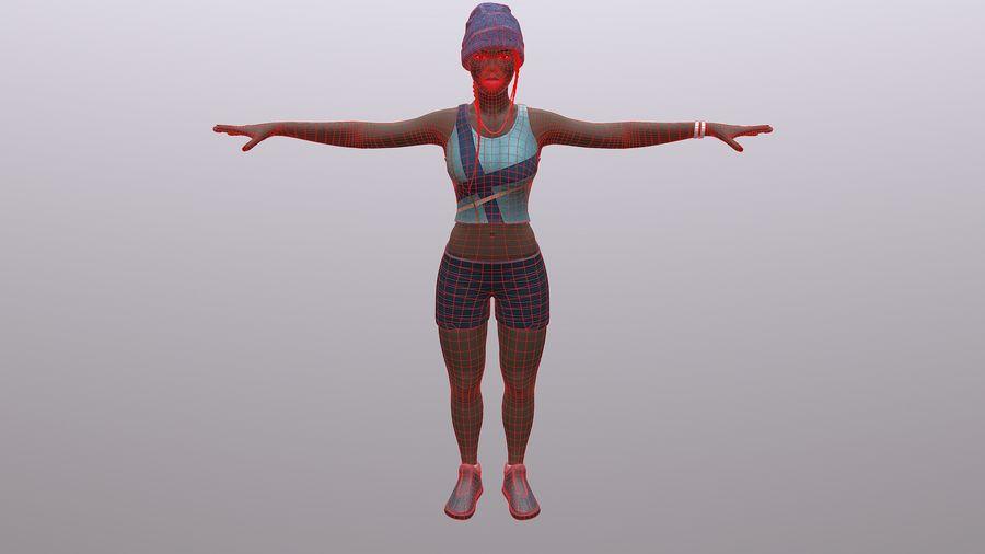 黑人妇女 royalty-free 3d model - Preview no. 12