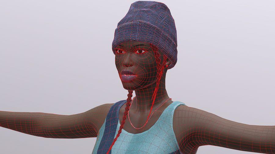 黑人妇女 royalty-free 3d model - Preview no. 17