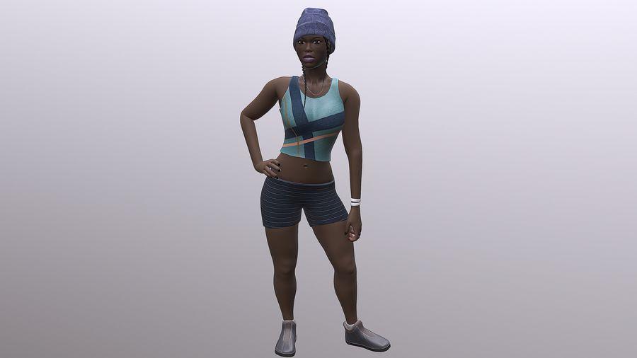 黑人妇女 royalty-free 3d model - Preview no. 5
