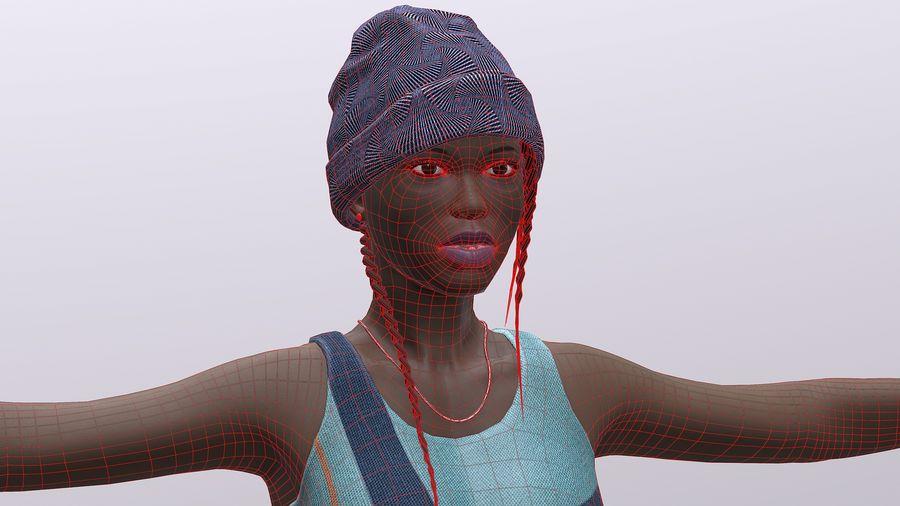 黑人妇女 royalty-free 3d model - Preview no. 16