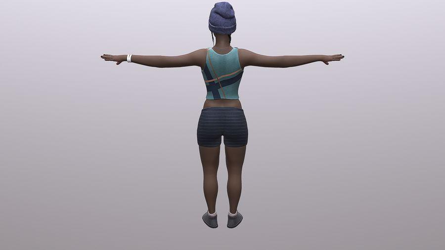 黑人妇女 royalty-free 3d model - Preview no. 11