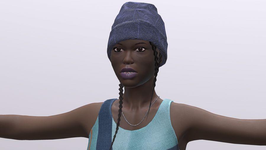 黑人妇女 royalty-free 3d model - Preview no. 1