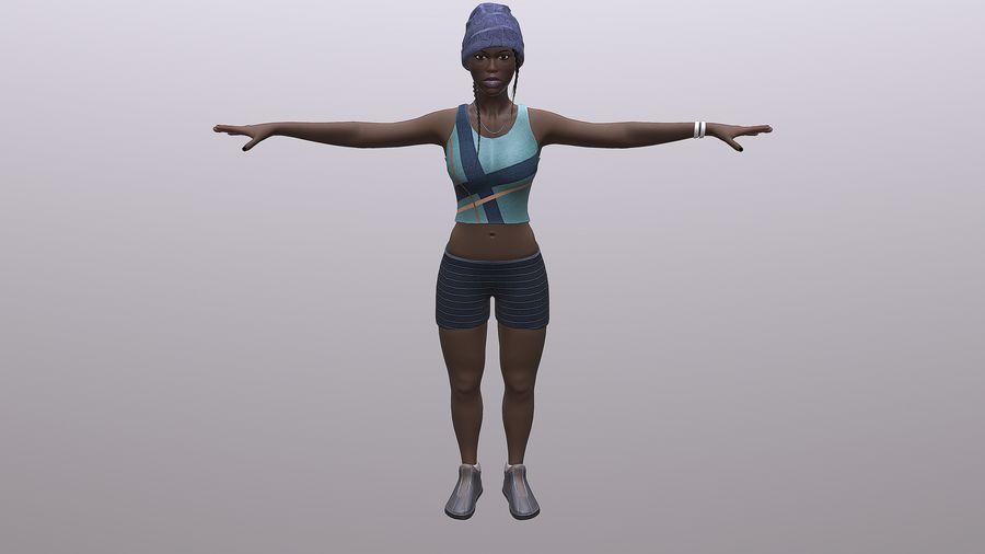 黑人妇女 royalty-free 3d model - Preview no. 7