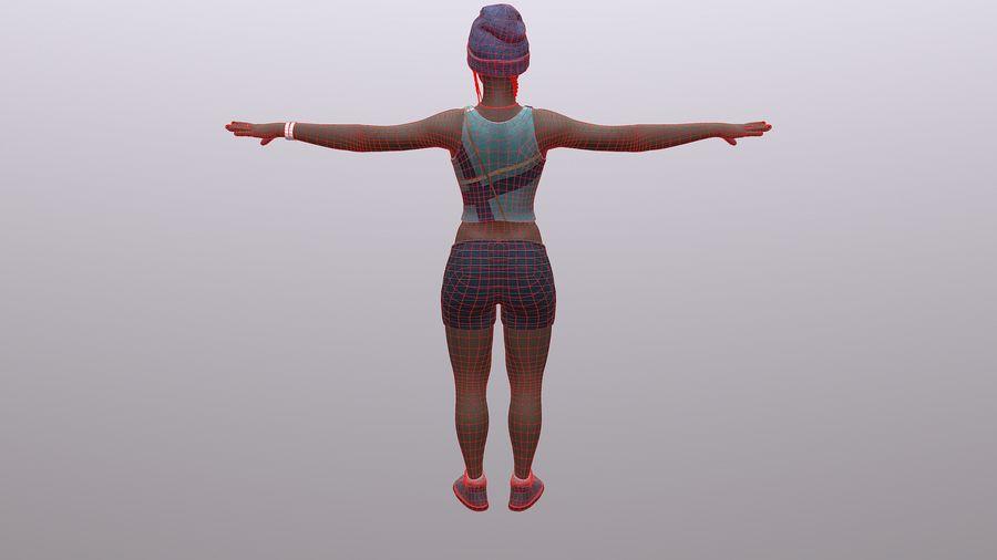 黑人妇女 royalty-free 3d model - Preview no. 14