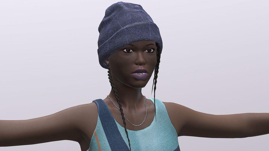 黑人妇女 royalty-free 3d model - Preview no. 3